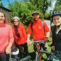 Die SPD-Mitglieder testeten die Radwege von Keilberg bis Pentling: Dr. Julia Egleder, Therese Wimmer, Raphael Birnstiel, Andrea Diermeier (von rechts nach links)